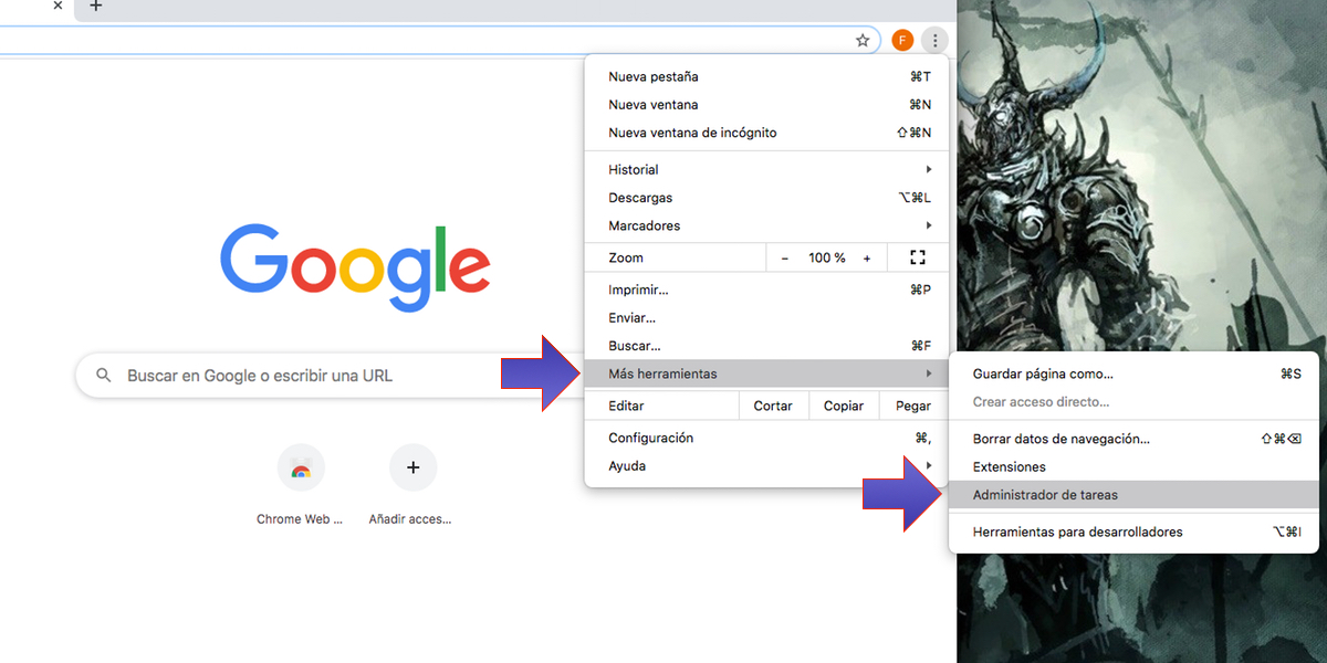 Google Chrome herramientas