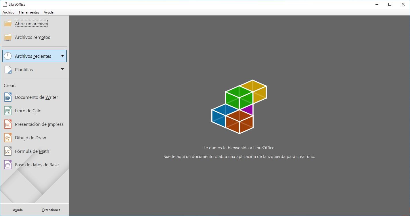 Aplicaciones de LibreOffice