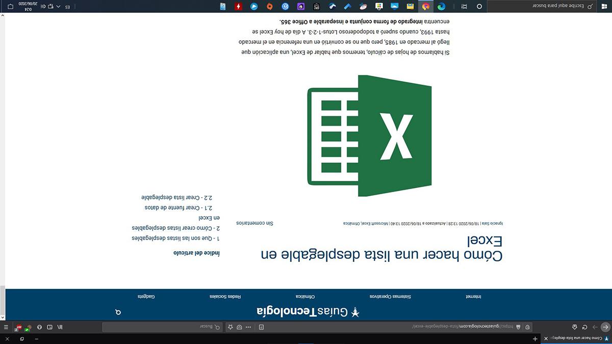 Girar pantalla Windows 10