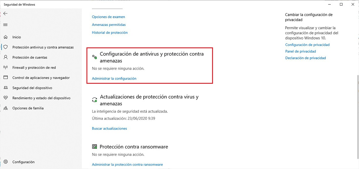 Desactivar Windows Defender
