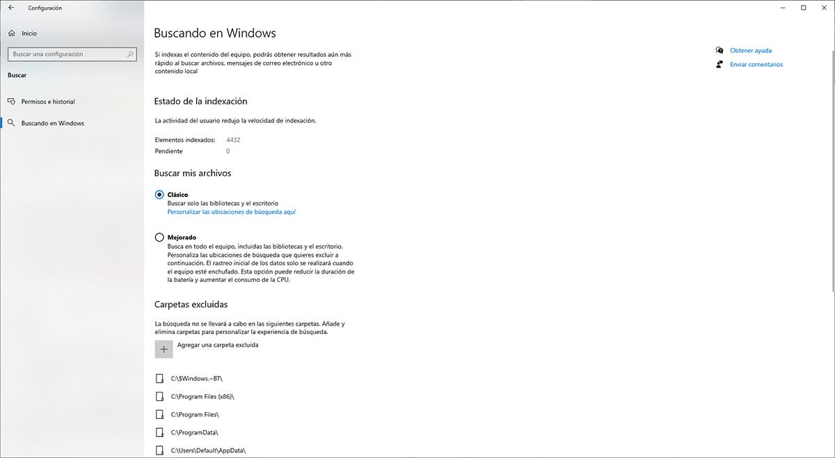 Formatos de búsqueda de archivos en Windows 10