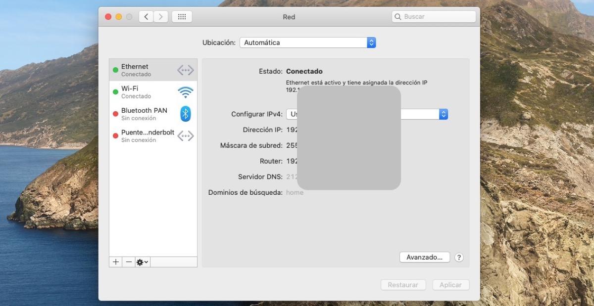 Cómo saber la IP de mi Mac