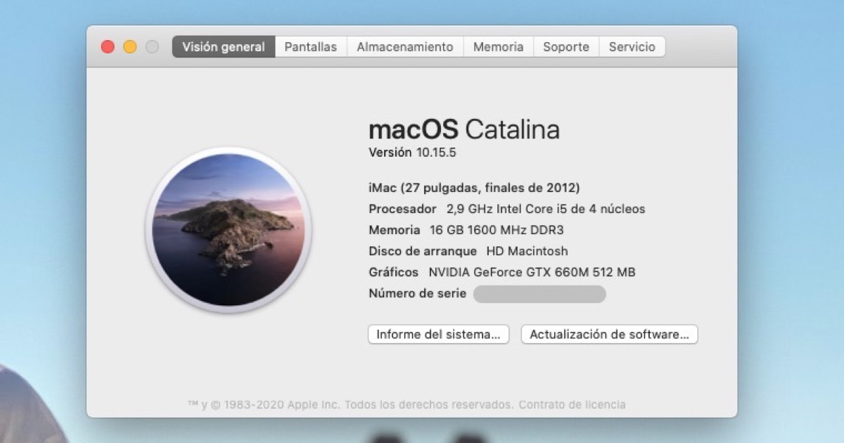 Información macOS
