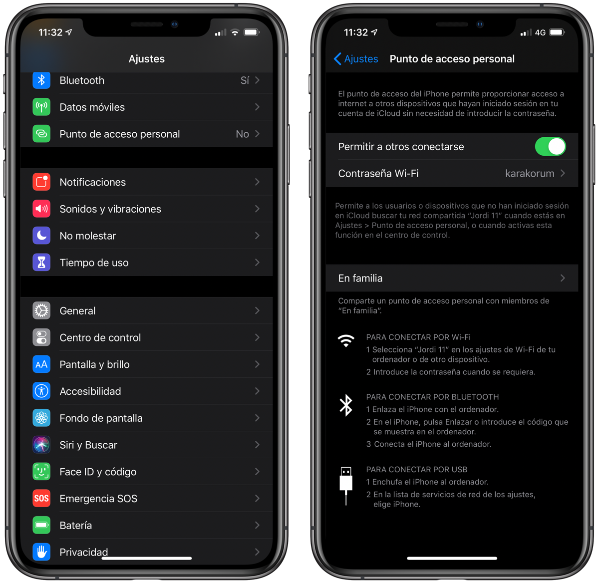 Compartir WiFi desde iPhone