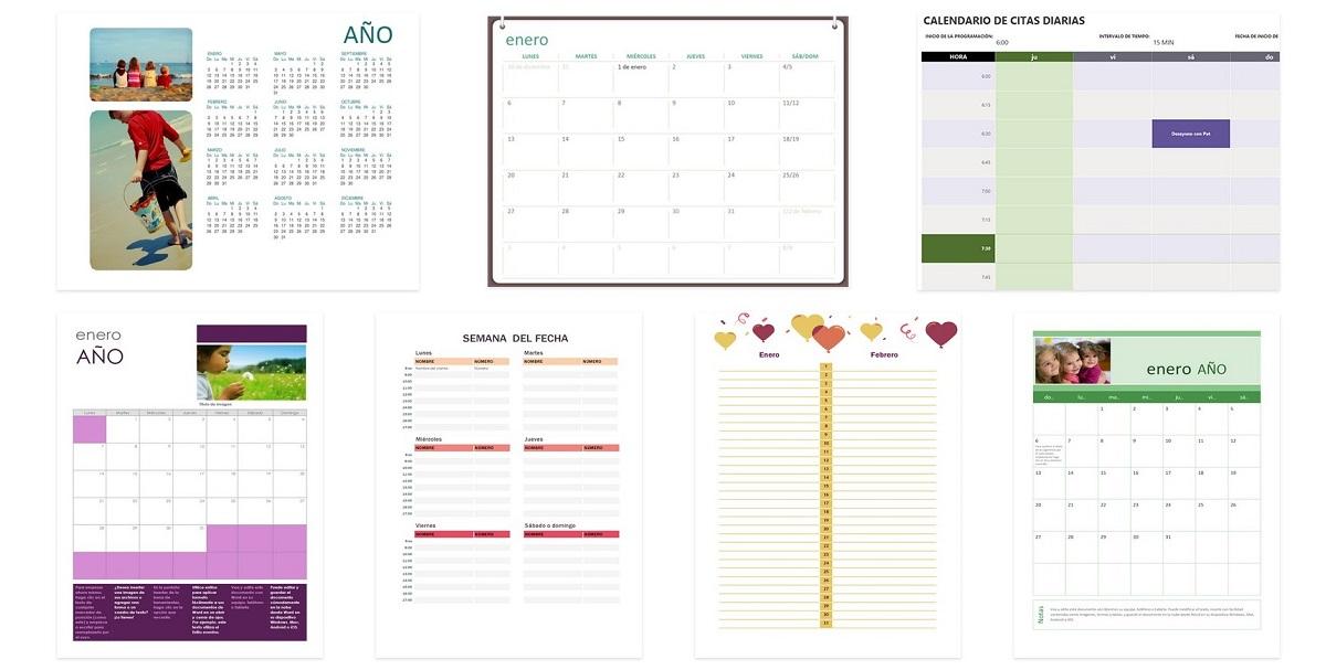 Plantillas para crear calendarios en Word