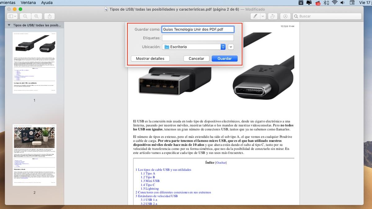 Unir dos PDF en uno con Vista Previa