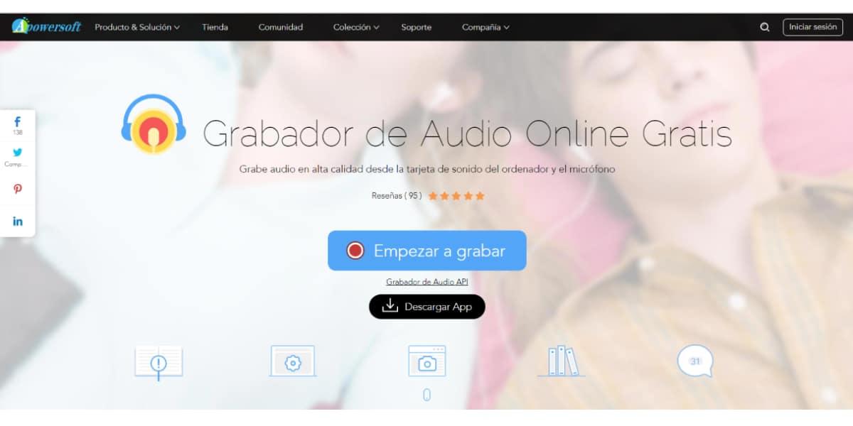 Grabador de audio Apowersoft