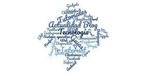 Nube de palabras de Guías Tecnología