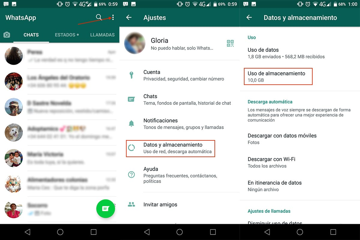 Cuanto espacio ocupa WhatsApp