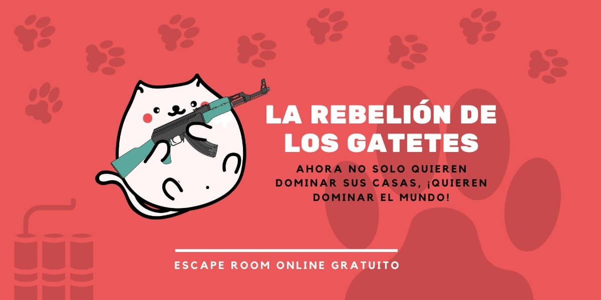 Escape room online: La rebelión de los gatetes