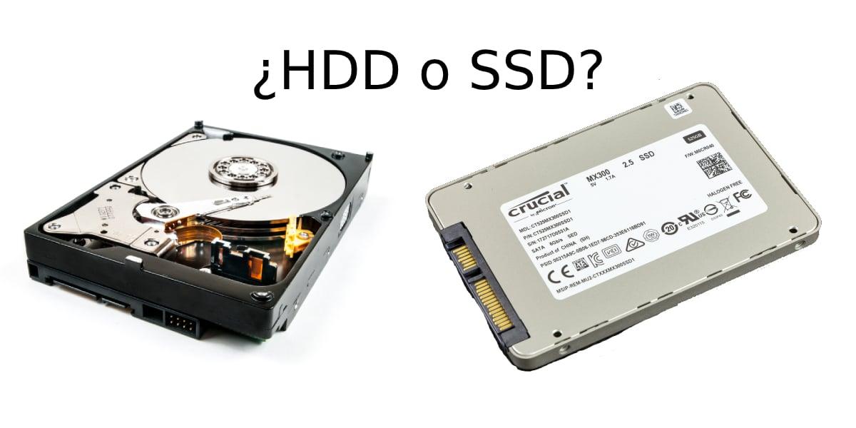 Discos duros: HDD y SSD