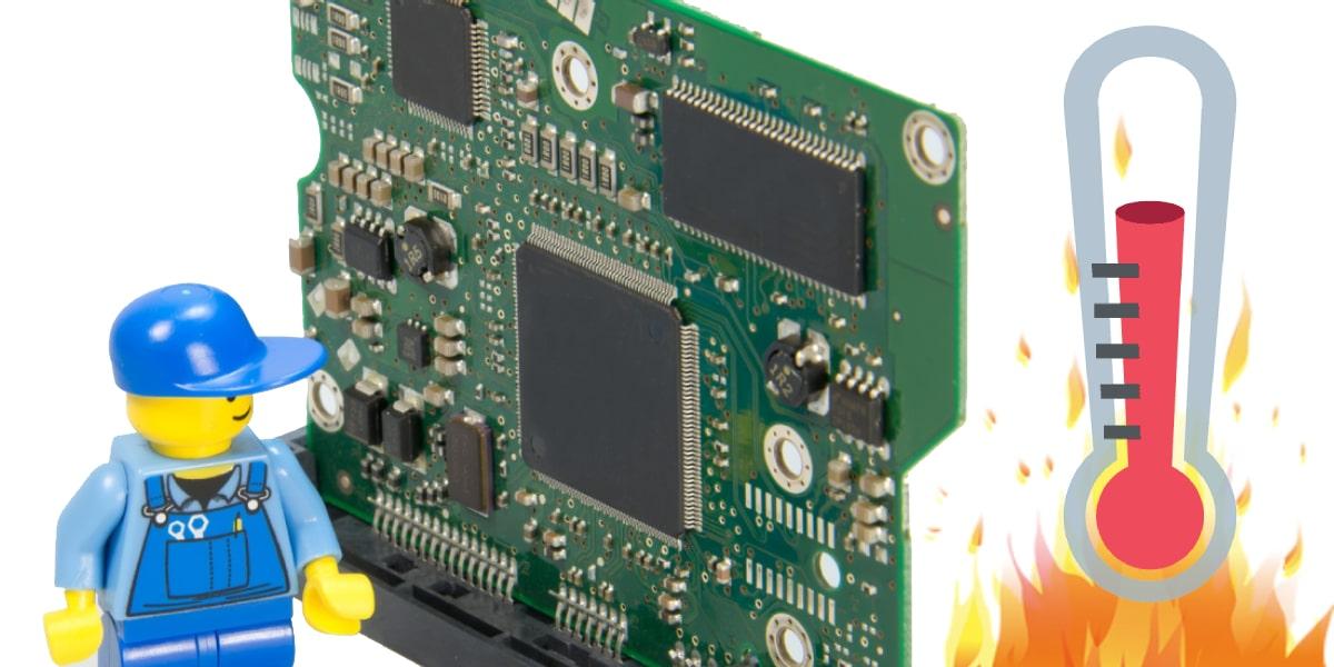 Dibujo de la CPU a altas temperaturas