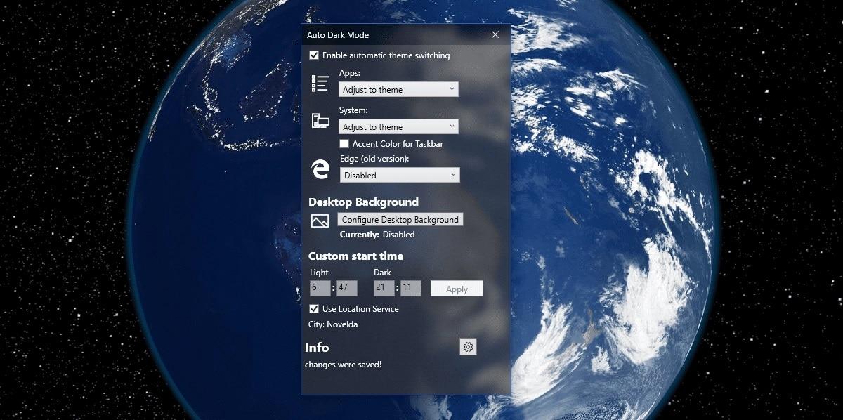 Programar modo oscuro Windows 10