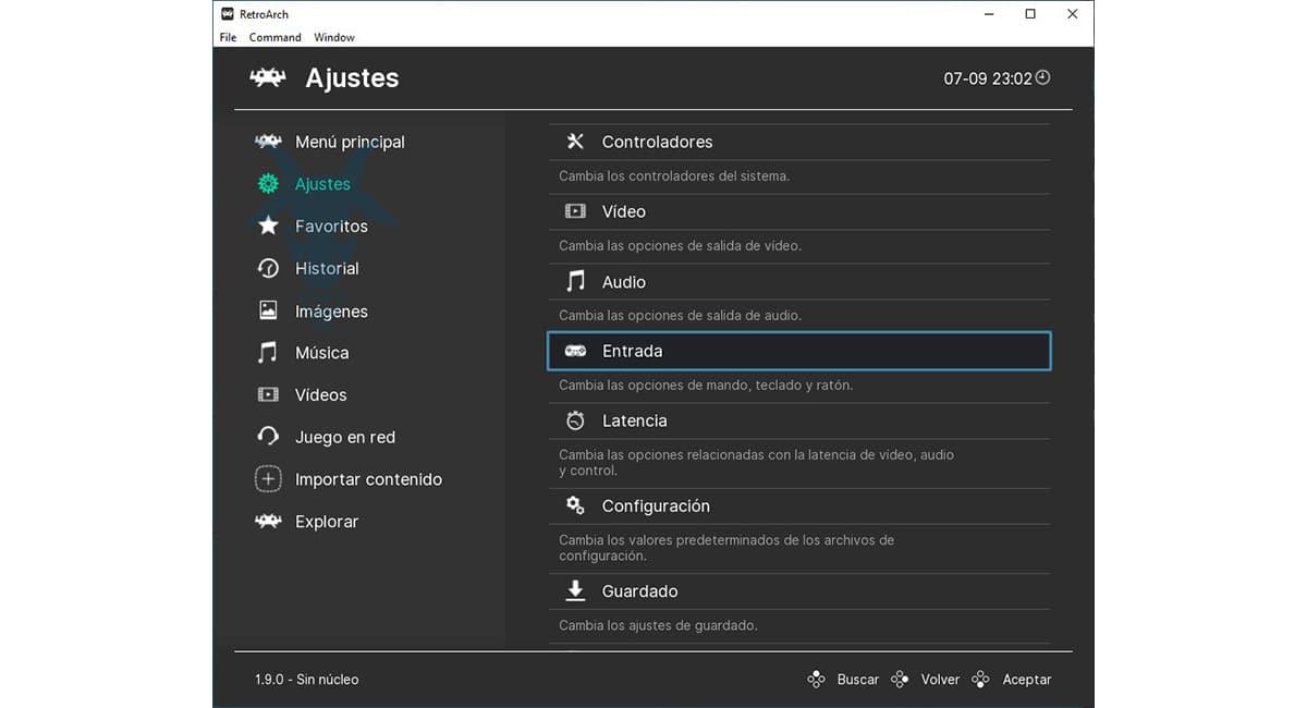Configurar mando RetroArch