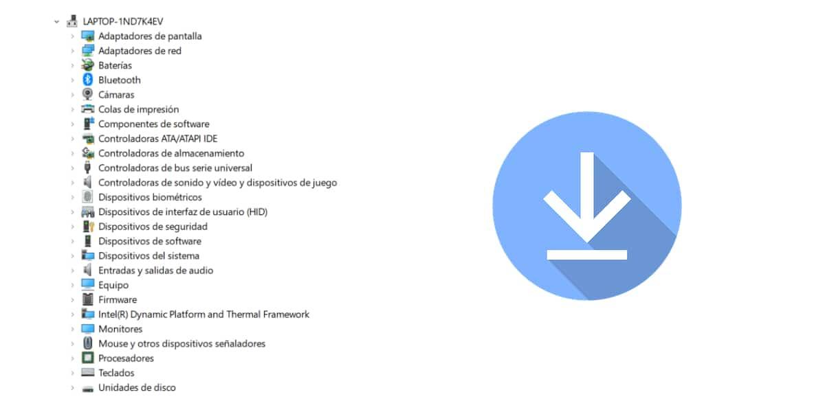 Descargar controladores en Windows 10 de la web de los fabricantes