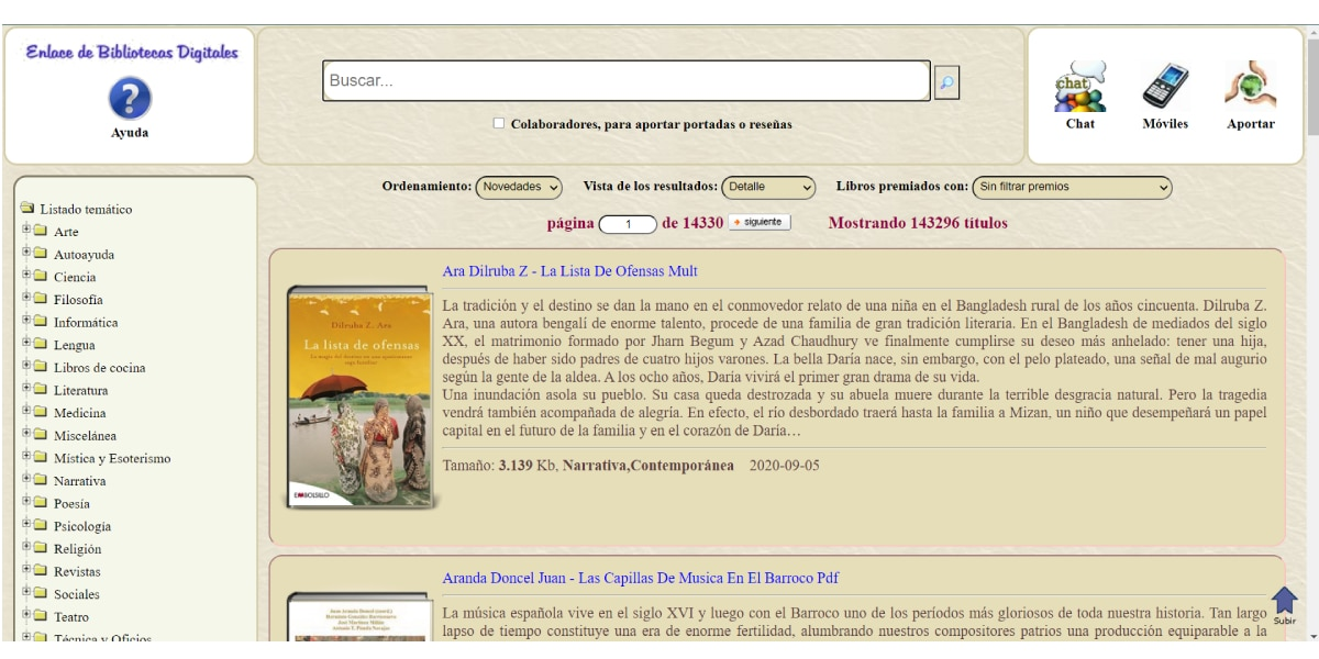 Sitio web eBiblioteca.org
