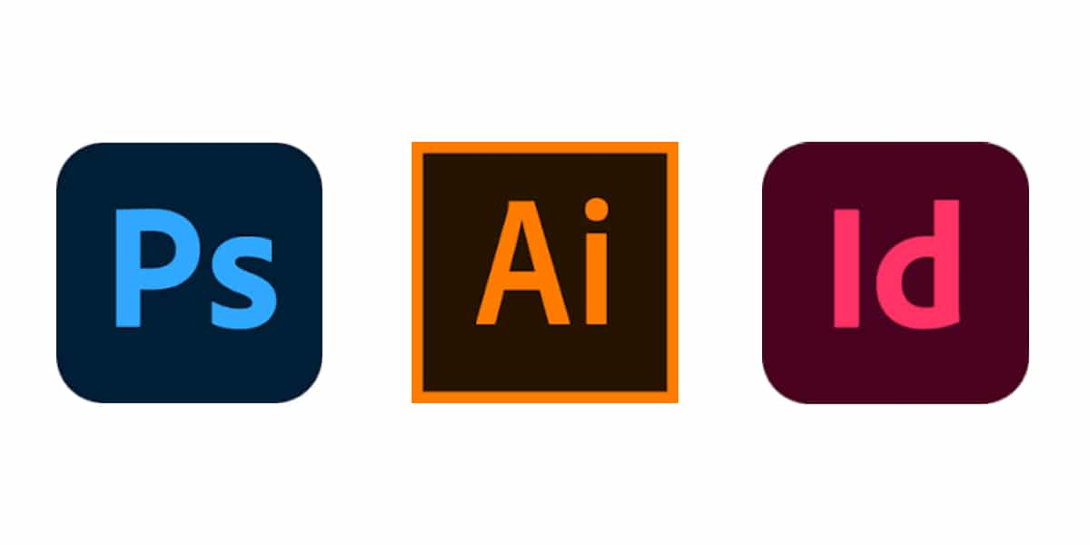 Logos de Photoshop, Illustrator y InDesign