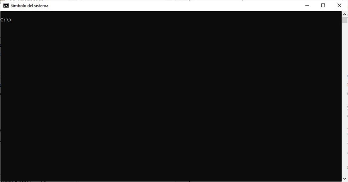 Símbolo del sistema Windows 10