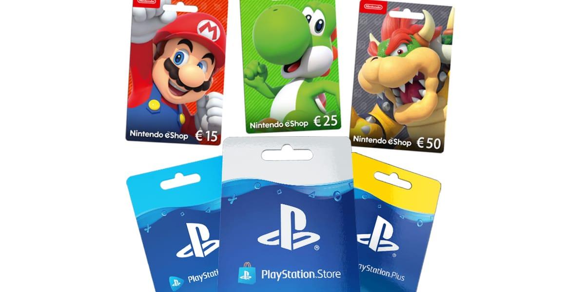 Regalo gamer: tarjetas de prepago