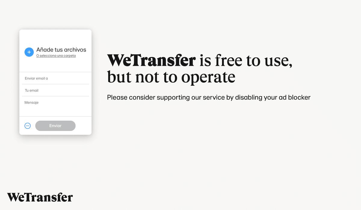 Cómo compartir archivos con WeTransfer