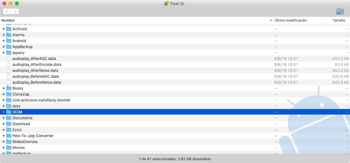 Copia de seguridad Android en Mac