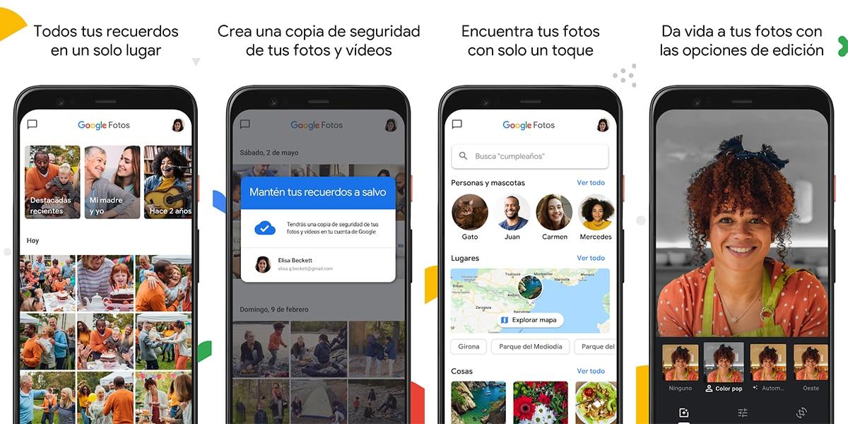 Google Fotos para copiar tu contenido