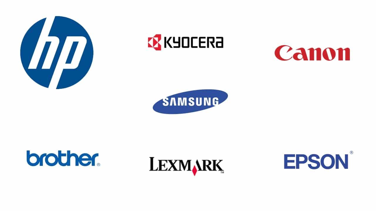 logos de marcas de impresoras láser