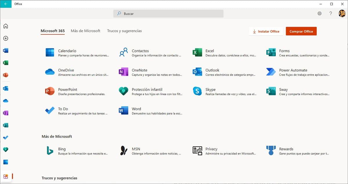 Microsoft Office 365 versión gratuita online