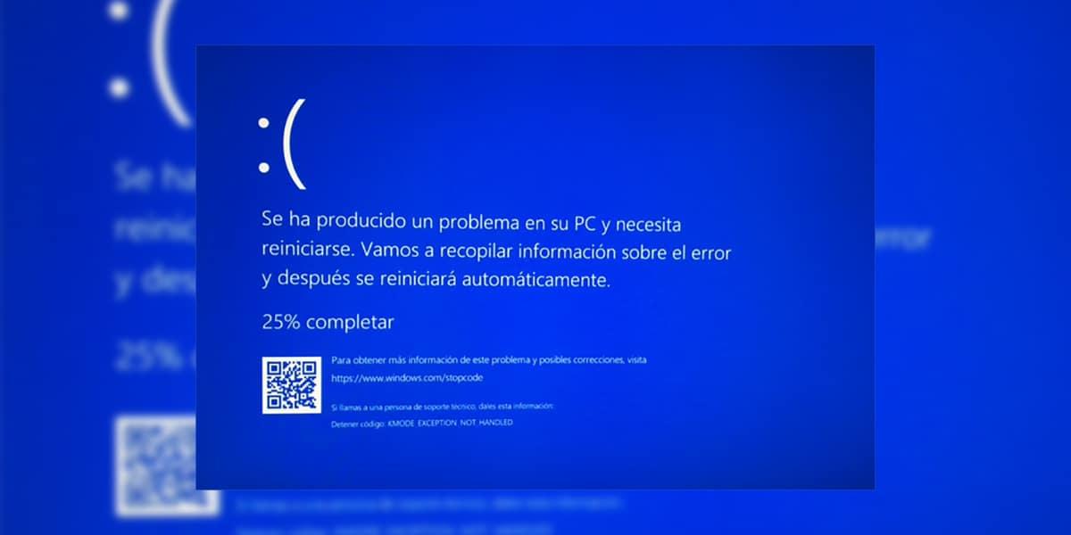 Pantalla azul Windows 10