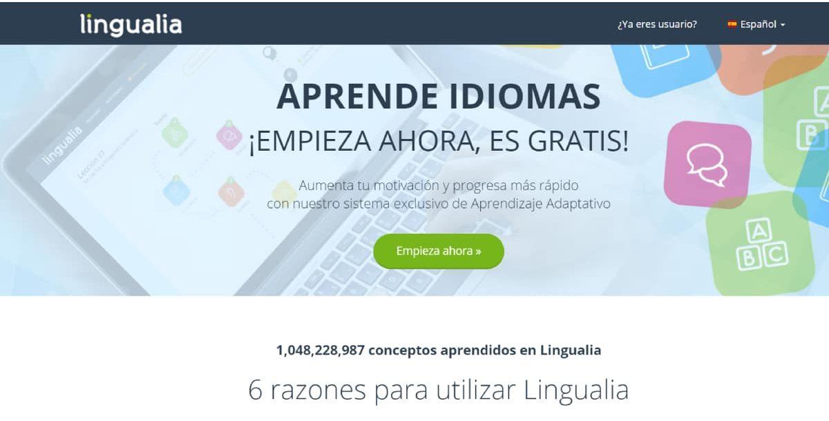Lingualia web