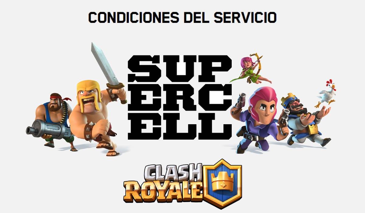 Términos y Condiciones SuperCell Clash Royale