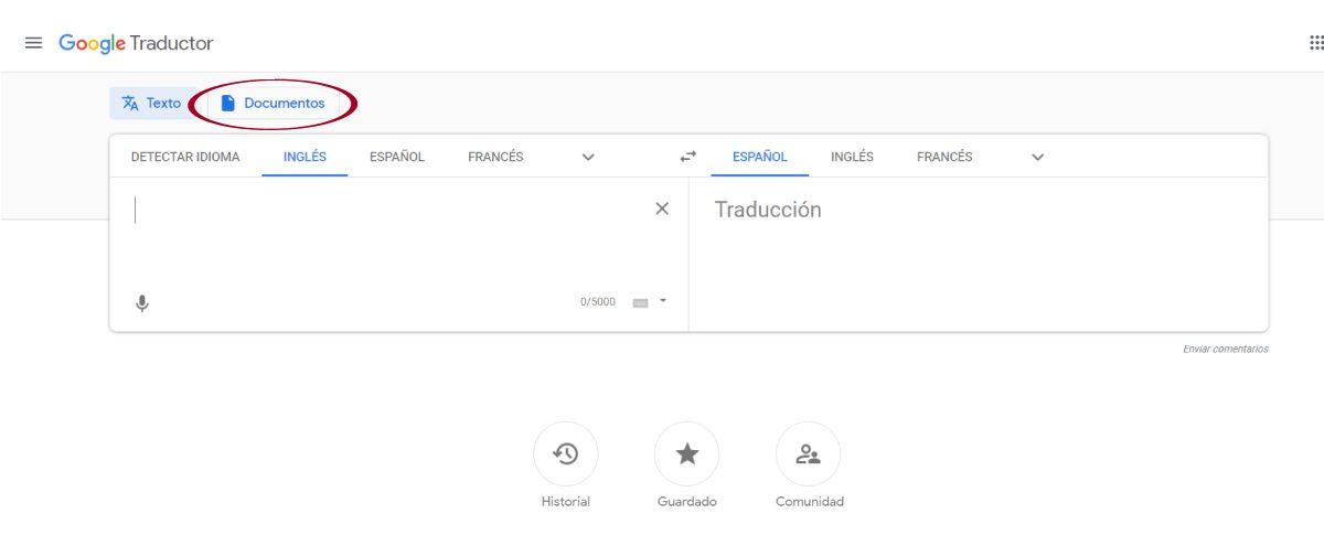 Traducir PDF con Google Translate