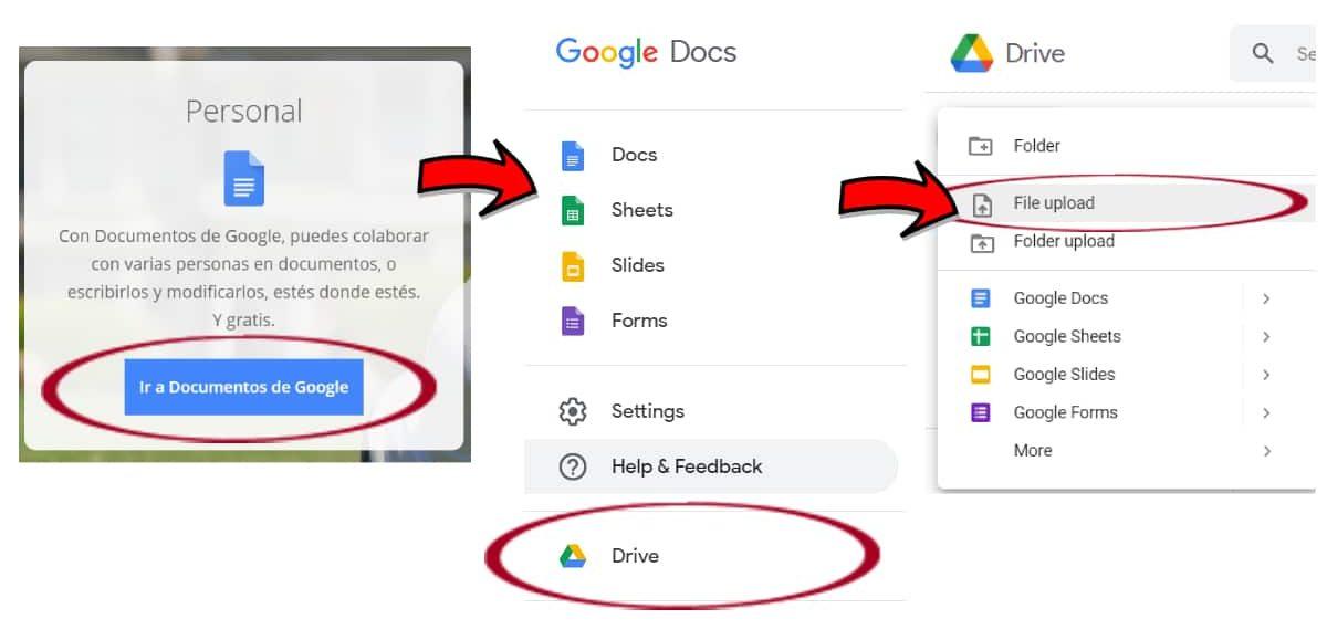 Traducir PDF con Google Docs y Drive