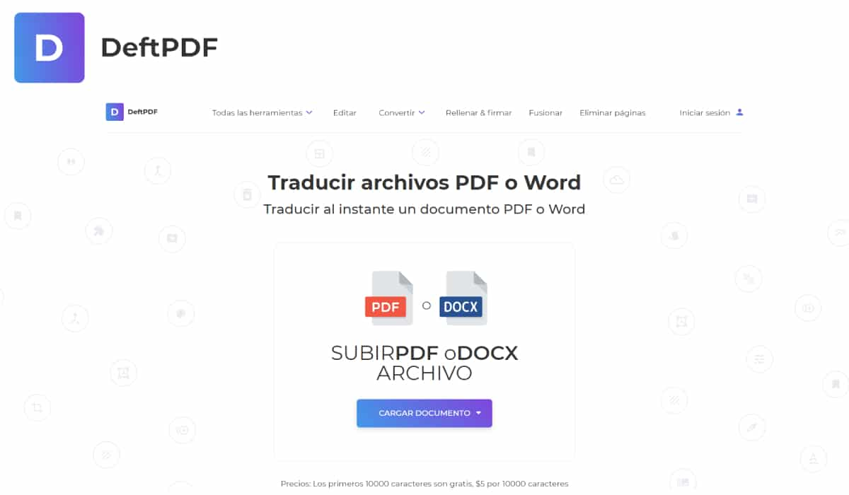 Traducir PDF con DeftPDF