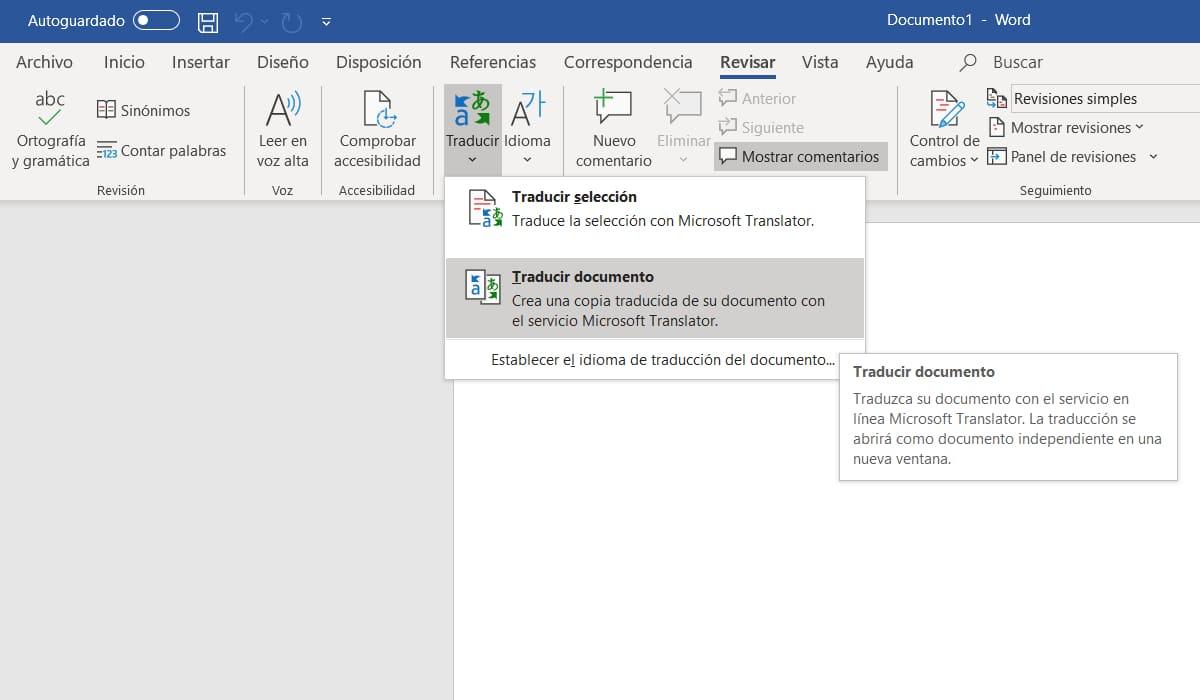 Traducir PDF con Word