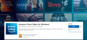 Amazon Prime Video para PC en Windows (Microsoft Store)