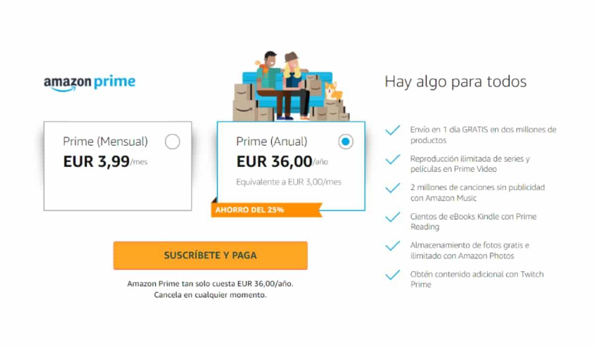 Cuotas Amazon Prime