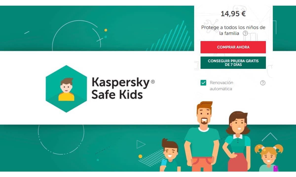 Programa control parental Kaspersky Safe Kids Free