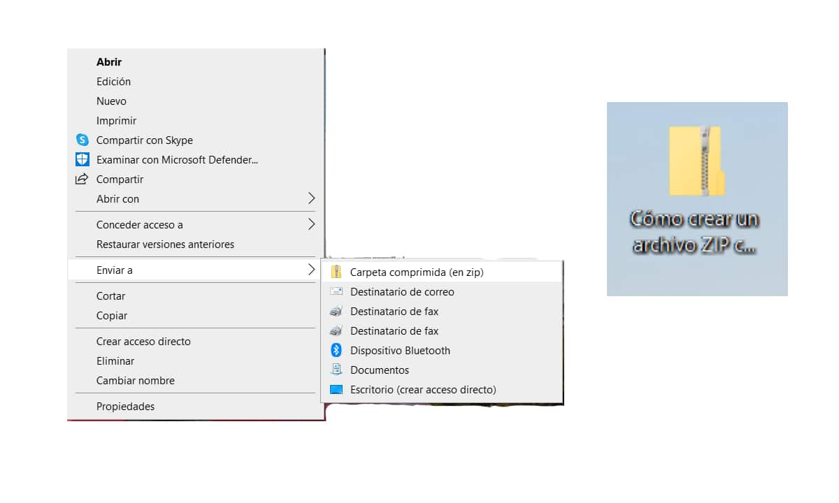 Crear un archivo ZIP con Windows