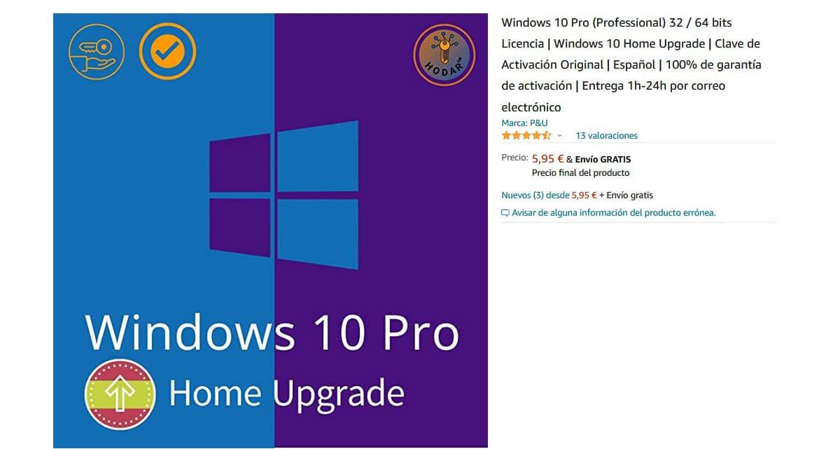 Comprar licencia Windows 10 barata