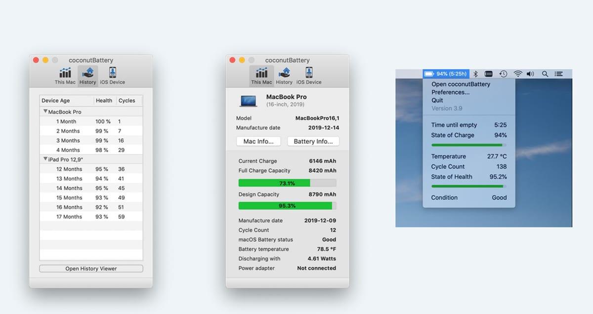 Salud batería de un macbook