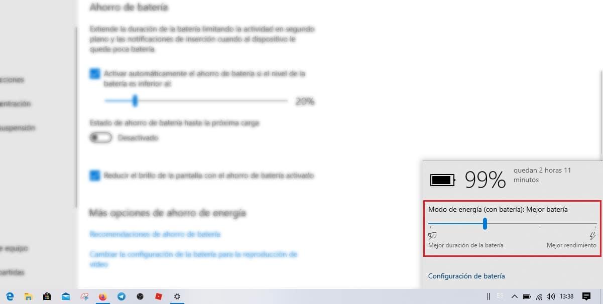 Rendimiento equipo Windows 10
