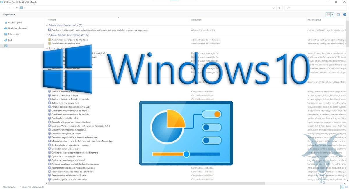 Modo dios de Windows 10