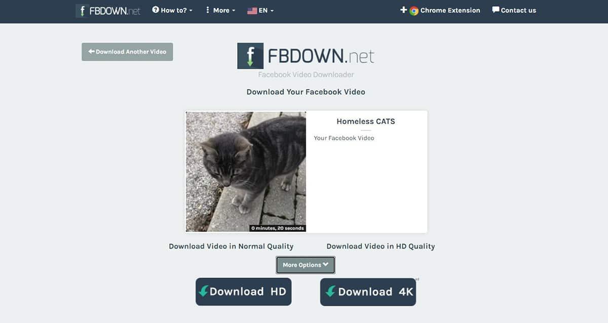 FBDown - Descargar vídeos de Facebook