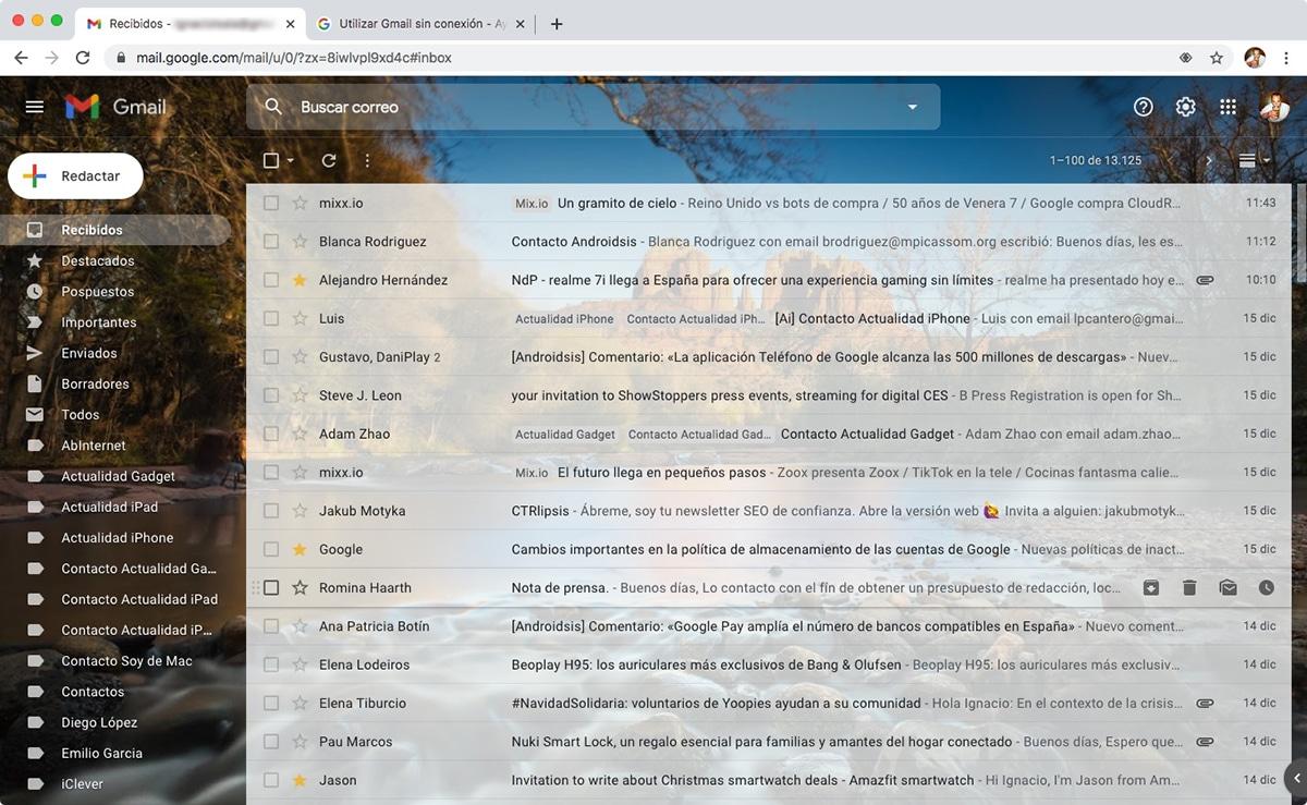 Destacar mensajes en Gmail