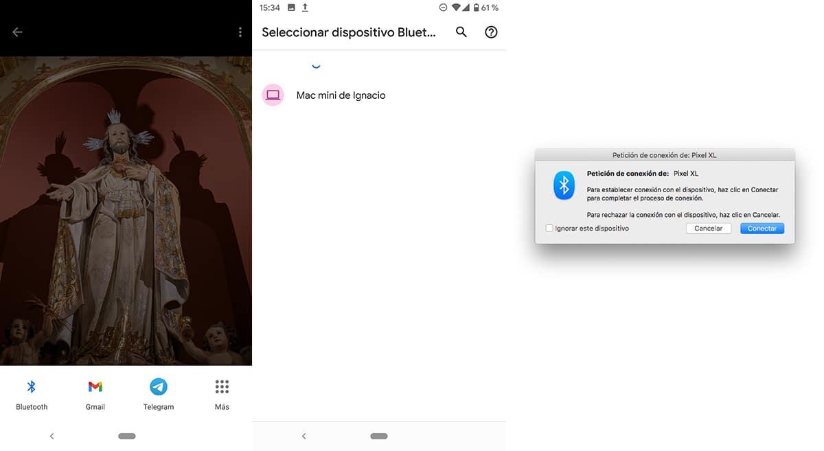 enviar archivos al Mac por bluetooth