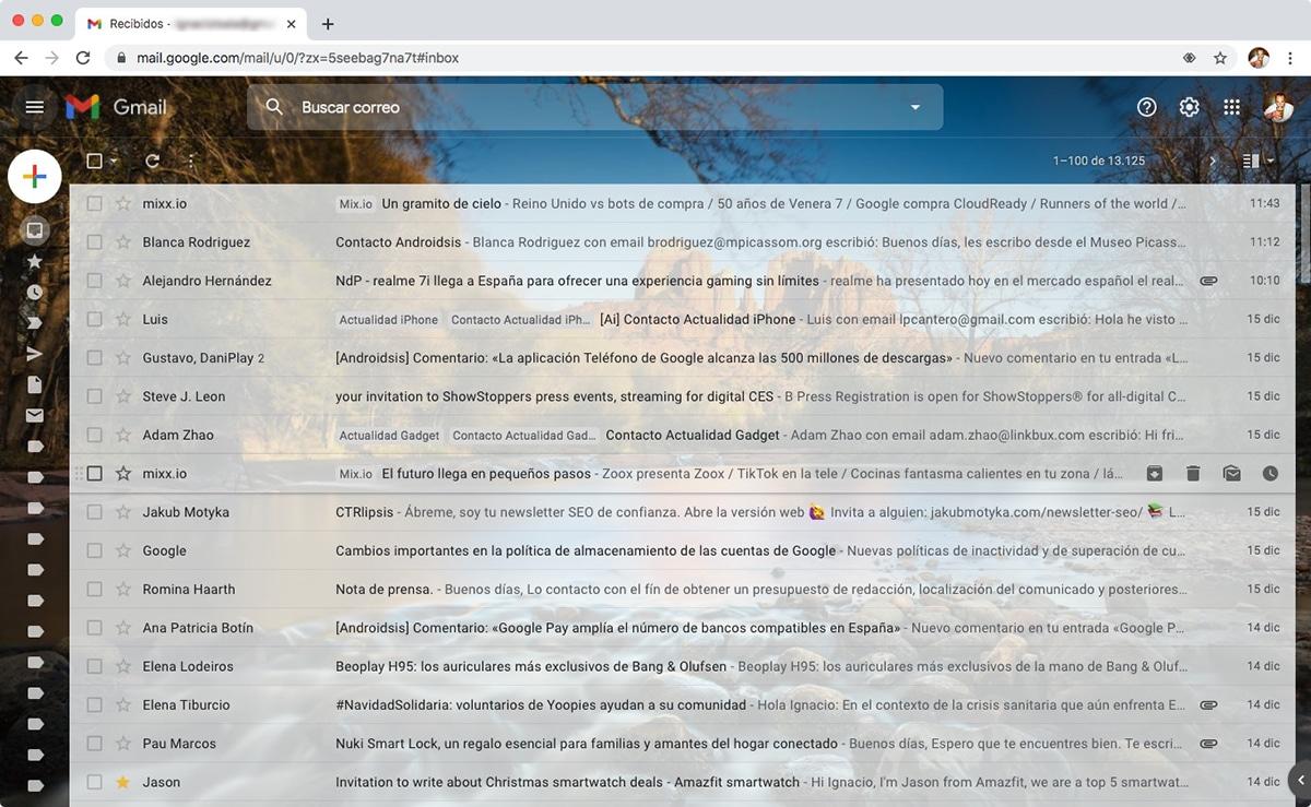 Mostrar - Ocultar nombres etiquetas en Gmail