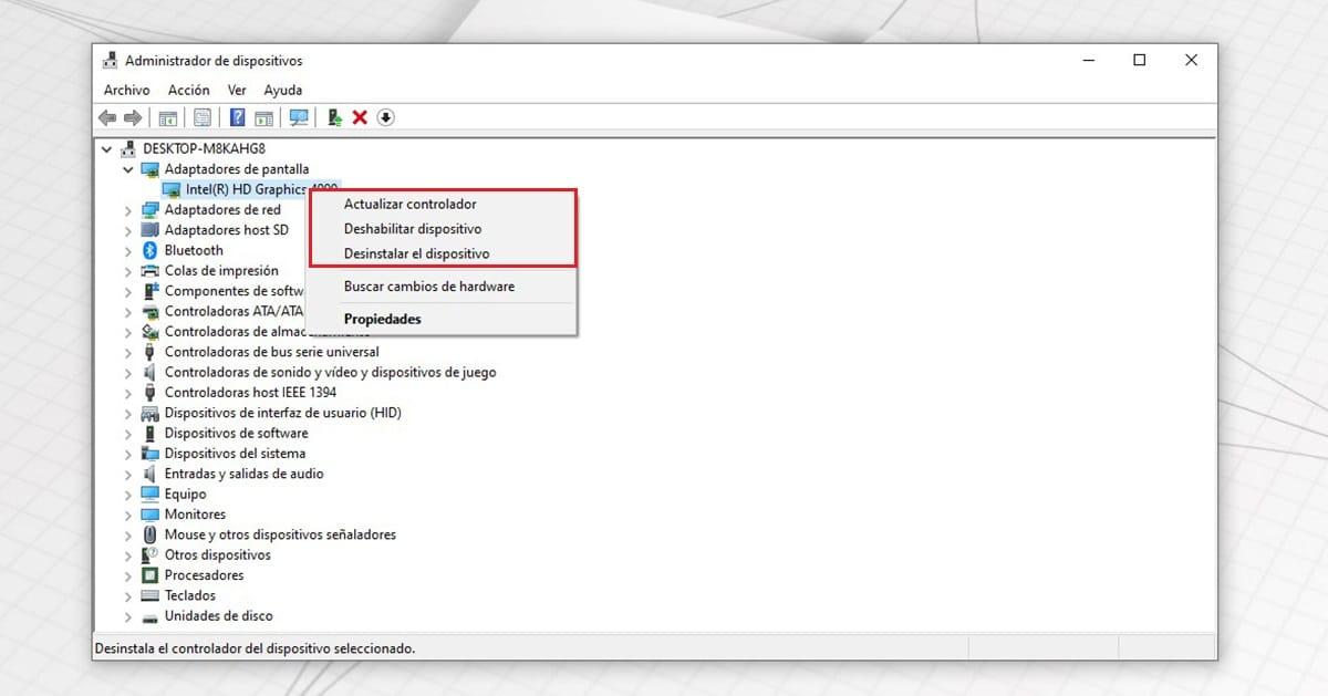 Actualizar drivers Windows 10