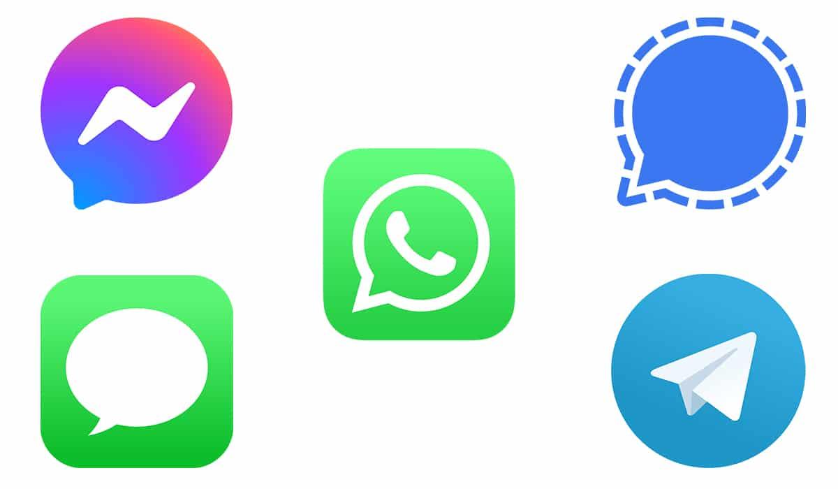 aplicaciones mensajería diferentes