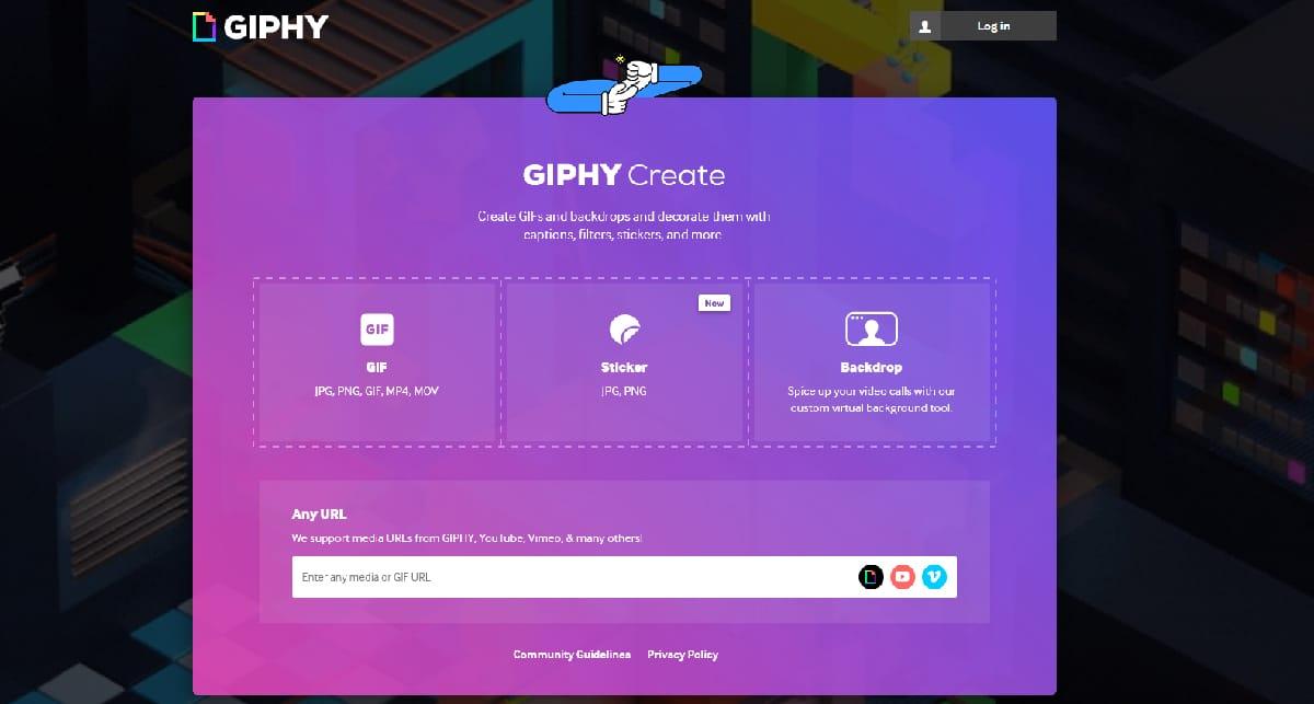 Crear GIFs con Giphy